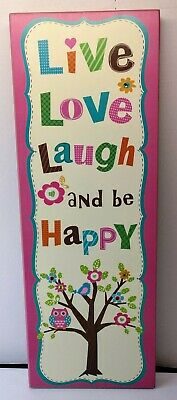 Pink Live Love Laugh And Be Happy Wall Art • 11.46£