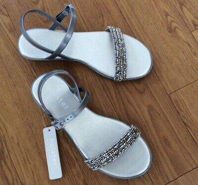 Holster Ladies Sandals Hst198 Silver New 5 Uk • 12£