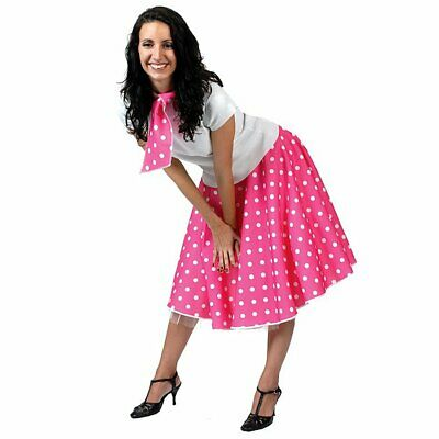 AU23.99 • Buy 50s Ladies Fancy Dress 1950s Rock N Roll Retro Womens Adults Costume Outfits New