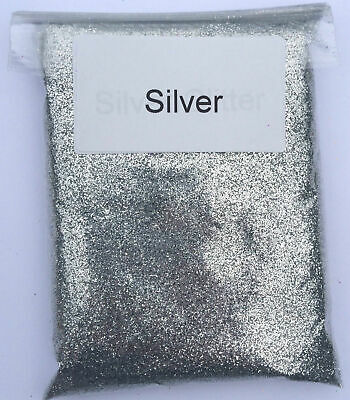100g SILVER Glitter - Ultra Fine Glass Art Craft Festival Sparkle • 3.99£