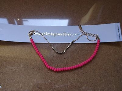 £3 • Buy Brand>new>genuine>shimla>hot>pink>double>strained>and>diamante>bracelet