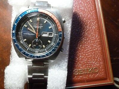 $ CDN856.83 • Buy Seiko Chronograph 6139 6002 Automatic 1970s Vintage Japanese Sports Watch. Box!