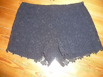 Zara Ladies Black Lace Detail Shorts Size Xs • 14.99£