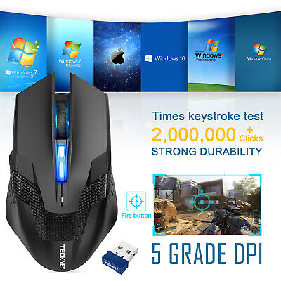 £11.99 • Buy TeckNet 4800 DPI Gaming Mouse Wireless Cordless LED Optical Mice For PC Laptop