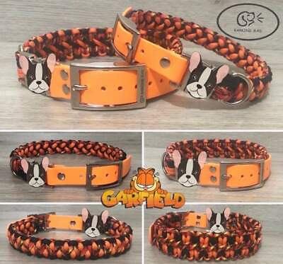Personalised Paracord / Biothane Dog Collar And Lead Engraved Tag  • 10£