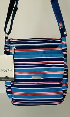 e62f26d9d NWT Baggallini Town Bagg Crossbody, Blue/Red/White Stripe • 35.00$