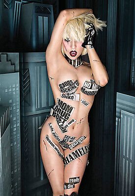 Lady GaGa - Famous Pop Star - Sexy A3 Art Poster Print • 7.99£