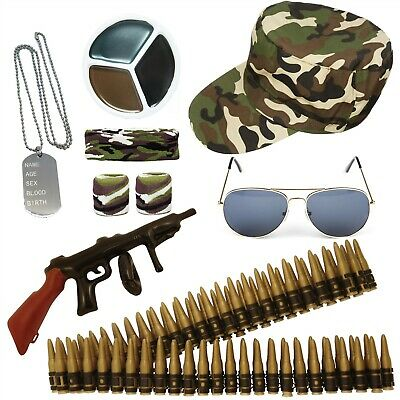 Army Fancy Dress Military Camo Accessories Mens Ladies Costume Stag Hen Party  • 2.99£