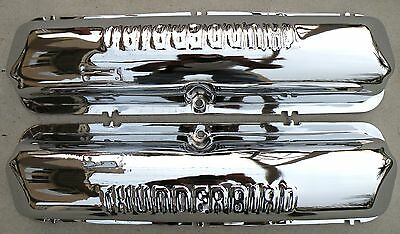 $650 • Buy Ford Thunderbird Fe 390 427 428 Chrome Valve Rocker Arm Covers 1958-1969 58-69