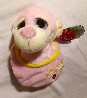 Podlings Petal The Monkey Plush Keel Toys 18cm Pink With Tags Cuddly Toy • 6£