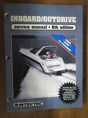 $18 • Buy Inboard Outdrive Service Manual 6th Edition Mercruiser Waukesha Used