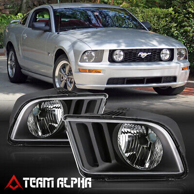$75.79 • Buy Fits 2005-2009 Ford Mustang S197 Pony [Black/Clear] L+R Headlight Headlamp Lamp