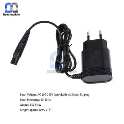 $ CDN5.05 • Buy 2-Prong Charger EU Plug Power Adapter For Shaver HQ8505/6070/6075/6090