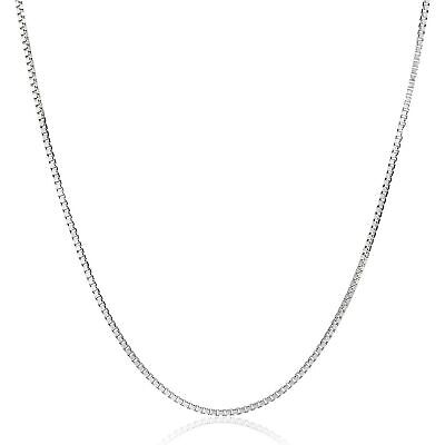 $112.79 • Buy Eternity Gold Box Chain Necklace In 14K White Gold, 16
