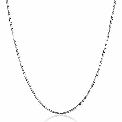 $70.49 • Buy Box Chain Necklace In 10K White Gold, 20