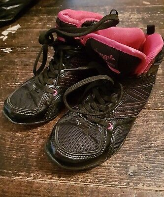 £10 • Buy Ladies Black And Pink Pineapple Dance Shoes Trainers Size 3