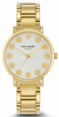$ CDN81.40 • Buy Kate Spade Gramercy Dot Gold Tone Stainless Steel Ladies Watch 1YRU0737