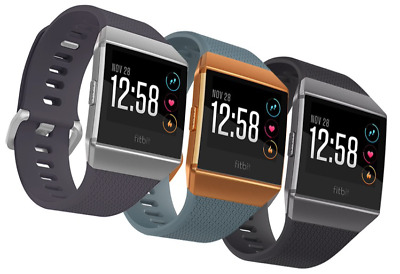 AU219 • Buy Fitbit Ionic Smart Watch Large And Small Bands Fitness Activity GPS Tracker