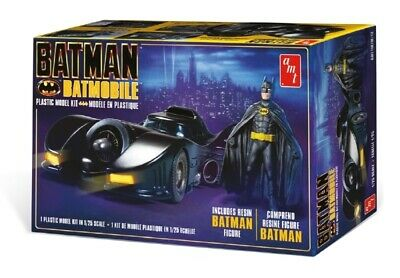 1989 Batmobile With Resin Batman Figure 1:25 Scale AMT Highly Detailed Plastic K • 36.09£