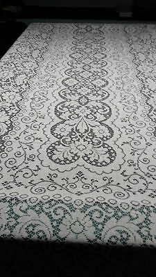 $39 • Buy 60'' X 144'' Lace Banquet Tablecloth White In Color    Huge Rectangle