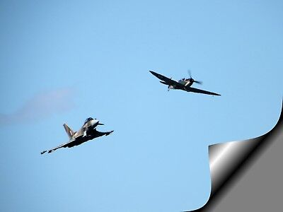 £12.50 • Buy RAF TYPHOON Vs SPITFIRE  A3 Photo Picture Print