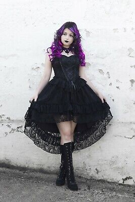 £68 • Buy Dark In Love Gothic Cocktail Prom Dress Victorian Black Lace Evening Dress DW198