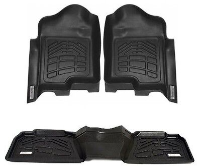 $169.95 • Buy COMBO Floor Mats 1st And 2nd Row Dodge Ram 1500 Quad 4WD 2002 - 2008 - Black