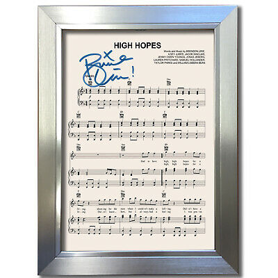 PANIC AT THE DISCO High Hopes MUSIC SHEET Signed Autograph Photo Repro A4 802 • 6.99£