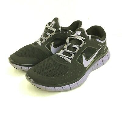 size 40 a0526 cec7a Nike Free Run 3 5.0 Womens Black Purple Running Shoes 510643-050 Size 8.5 •