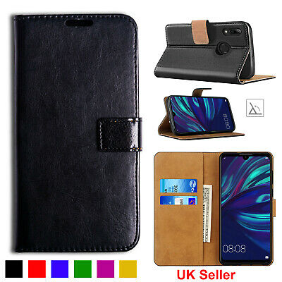 Huawei Y6 Y7 Y9 2019 Book Leather Case Wallet Flip Stand Phone Cover Card Holder • 3.15£