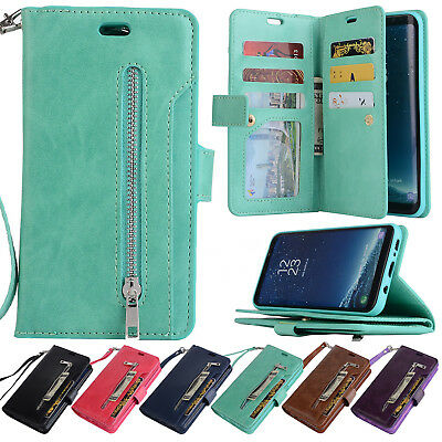 $ CDN11.85 • Buy For Samsung Galaxy Note 9/S8/S7 Phone Case Cover Card Wallet Flip Leather Stand