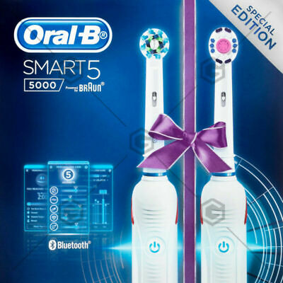 AU199.60 • Buy Smart 5 5000 Electric Toothbrush AU STOCK With White Dual Handle 2 Pack Oral-B