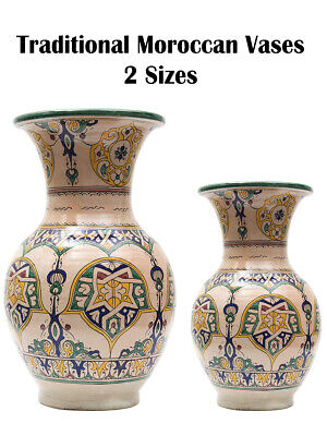 £39.99 • Buy Moroccan Traditional Vases In 2 Sizes With Floral Patterns