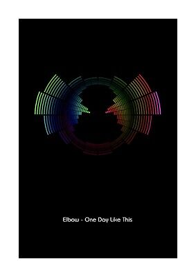 £11.99 • Buy Elbow - One Day Like This - Sound Wave Vector Art Print - A4 Size