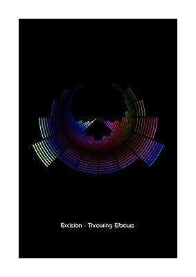 £11.99 • Buy Excision - Throwing Elbows - Sound Wave Vector Art Print - A4 Size
