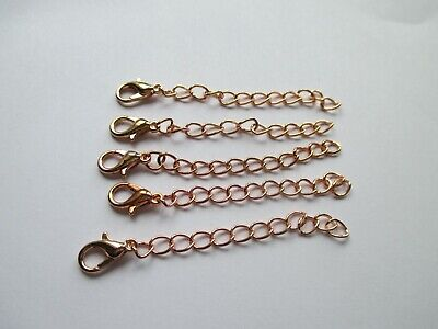 £3.25 • Buy UK 5 Pieces 60 Mm Rose Gold Extension Necklace/Bracelet Jewellery Extender Chain