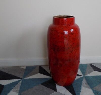 Large West German Scheurich 553-52 Fat Lava Floor Vase 1960's  • 85£