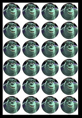 Edible Cupcake Toppers X20 Monsters Inc Cake Toppers-wafer Sheet, Icing Sheet.13 • 3.49£