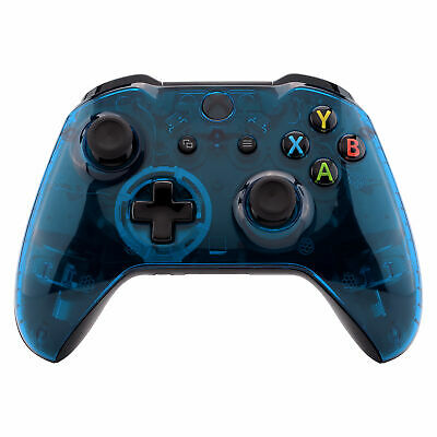 $15.99 • Buy Crystal Clear Blue Faceplate Cover Top Housing Shell For Xbox One S X Controller