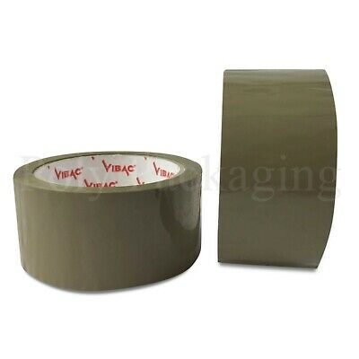 £12.20 • Buy 6 X 48mmx66m(2 )Rolls PREMIUM BROWN TAPE For Packing Parcels/Boxes/Packaging