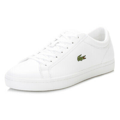 Lacoste Womens White Trainers, Straightset BL1 SPW, Lace Up, Casual Sneaker Shoe • 65£