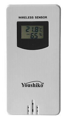 Youshiko YC9312 Wireless Temperature & Humidity Sensor For Weather Station  • 17.99£