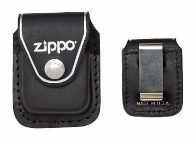 $11.03 • Buy Zippo Clip-On Black Leather Pouch, For Zippo Lighters, Metal Belt Clip #LPCBK