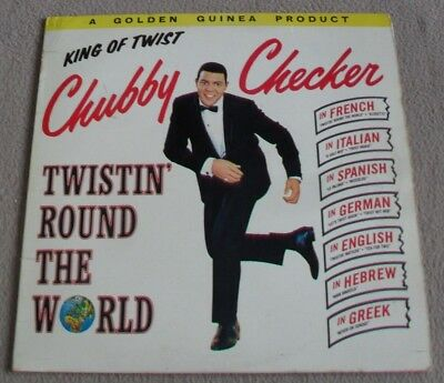 CHUBBY CHECKER - TWISTIN ROUND THE WORLD Vinyl Lp Record GGL 0236 - VGC • 9.99£