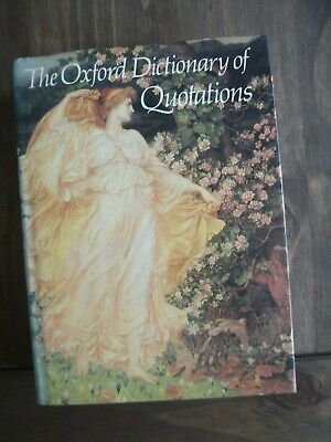 THE OXFORD DICTIONARY OF QUOTATIONS 1981 Hardback • 5.99£