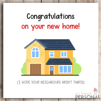 Congratulation New Home Card Adult Friend Rude Joke Comedy Funny Humour Card • 2.25£