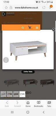 Coffe Table NEW White Oviedo  • 70£