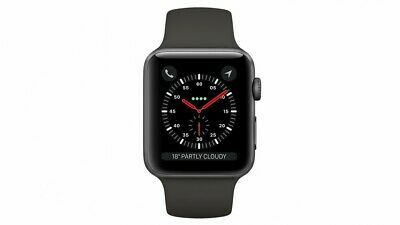 $ CDN263.15 • Buy Apple Watch Series 3 42mm Space Gray Aluminium Case With Black Sport Band...