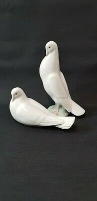 Nao By Lladro Figurine Ornaments ' White Doves ' Standing And Sitting  • 49£