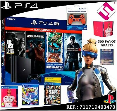 AU1312.86 • Buy PS4 Pro 4K 1TB Fifa 2020 The Last Of US Uncharted Sonic Gtav Fornite +500